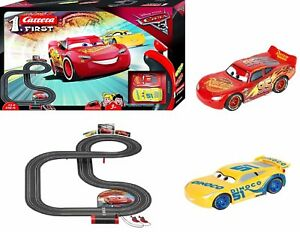 Cars-3-RC-IR-Radio-Remote-Control-Slot-Car-Race-Track-Lightning-Mcqueen-Carrera