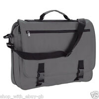 New Large Messenger Satchel Shoulder Travel Work School College Bag Black Colour