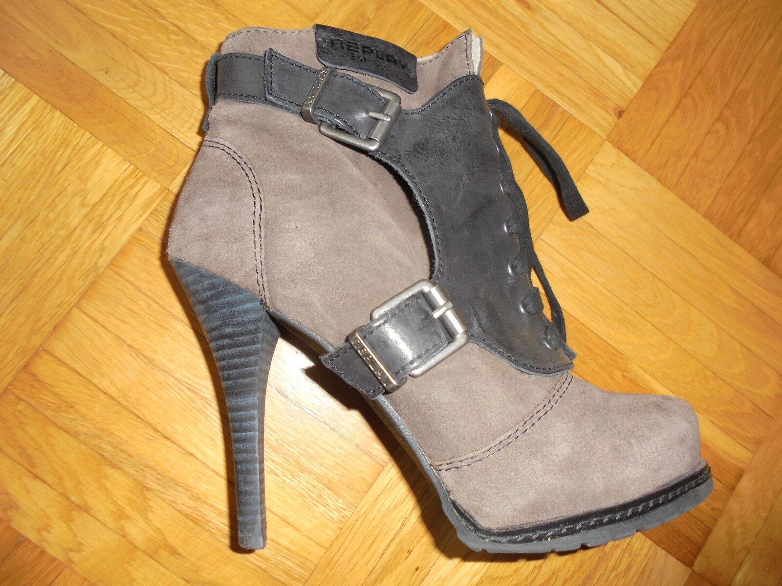 Replay Damen Stiefeletten Schuhe Booties High Heels Booties Schuhe Gr 39 4ae7e2