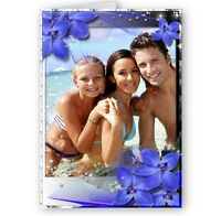 Personalised Any Photo A5 Special Flower All Occasion Card