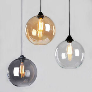timeless design a6832 46b45 Details about Modern Vintage 4 Color Pendant Ceiling Light Glass Globe  Lampshade Fitting Cafe