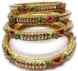 bracelets by craftsvilla stone variation design shopping buy bangle polki bangles for online green shop n