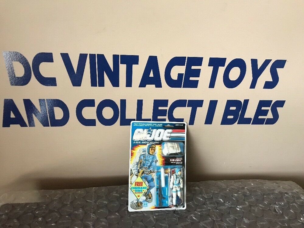 Gi Joe SUB-ZERO 1989 Hasbro Vintage MOC FACTORY SEALED action figure NEW