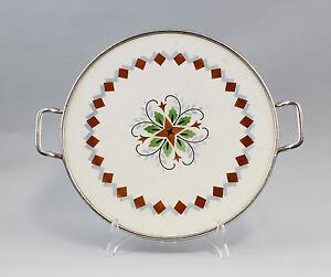 99845070-Keramik-Tortenplatte-Art-deco-Spritzdekor-um-1920-30