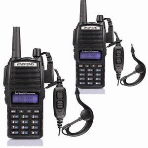 2x-Baofeng-UV-82L-DOPPIO-PTT-Dual-Band-DTMF-V-UHF-5W-Radio-PMR-RICETRASMITTENTE