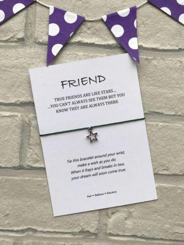 encanto Estrella verdadero Amigos Son como estrellas Pulsera de deseos amigo regalo para los amigos