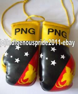 PNG Flag//Papua New Guinea mini boxing gloves for your car mirror-Get the best.