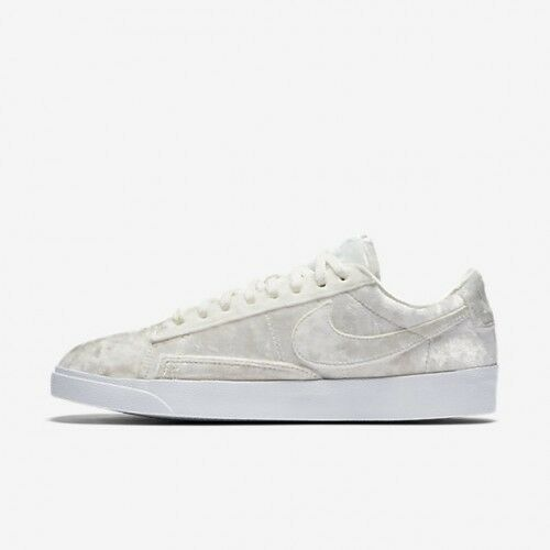 Nike WOMEN'S Blazer Low LX Sail Summit White VELVET SIZE 6 BRAND NEW