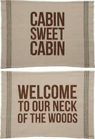 Primitives By Kathy Reversible Rug Cabin Sweet Cabin Welcome Neck Of The Woods