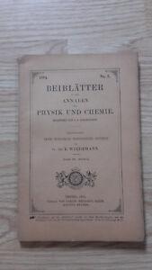 E. Wiedemanns Weichkäse - Beiblatter A Annalen Der Physik Und Chemie - 1894 - N