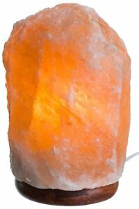 HemingWeigh-Natural-Himalayan-Rock-Salt-Lamp-7-13-lbs-with-Wood-Base