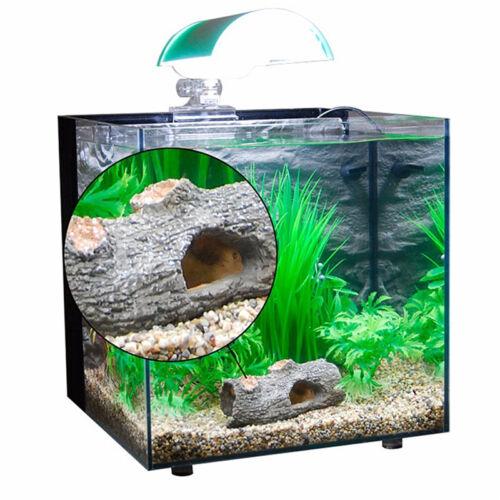 HOT Aquarium Fish Tank Resin Broken Barrel Cave Ornament Landscaping Decor GX
