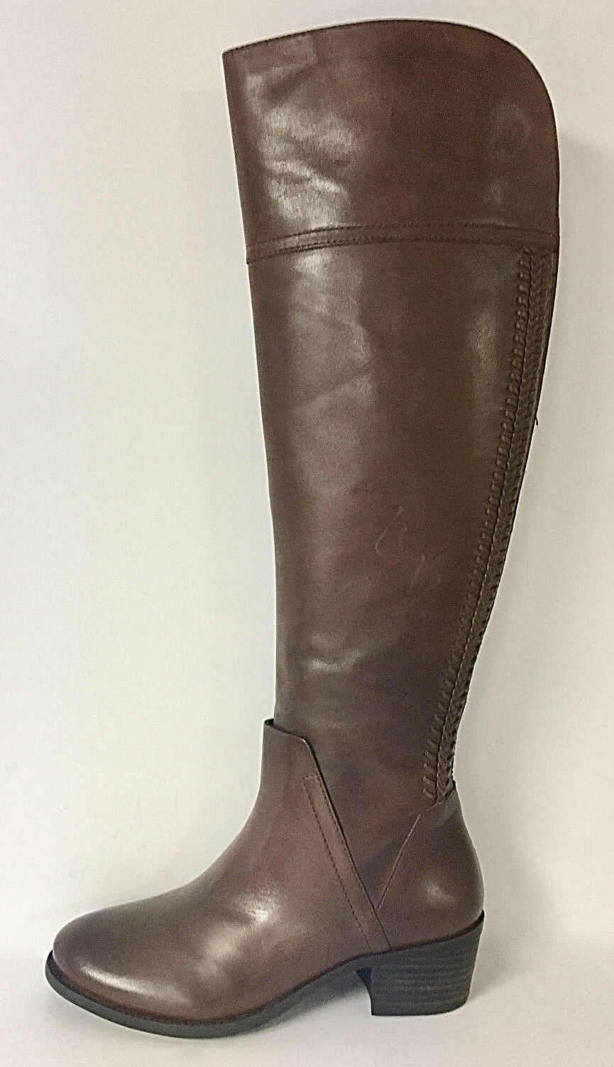 VINCE CAMUTO - BENDRA RUSSET OVER-THE-KNEE SPLIT SHAFT BOOT SZ 8.5, RETAIL  198