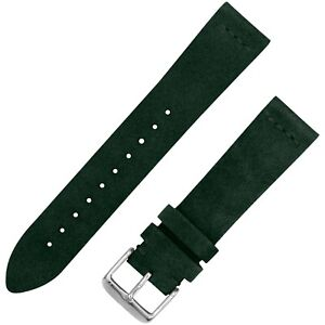 Vintage Suede Leather Watchband - Forest Green - 20mm & 22mm