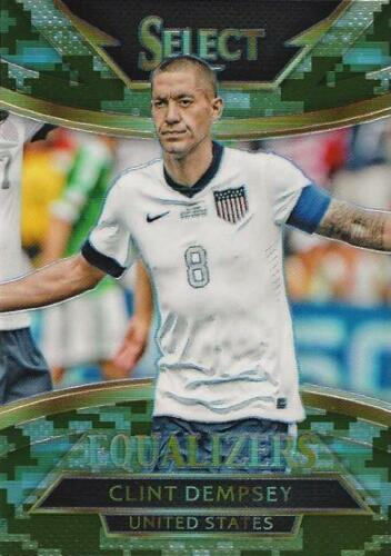 2015 Panini Select Soccer /'Equalizers/' Camo Parallel Serial Numbered to //249