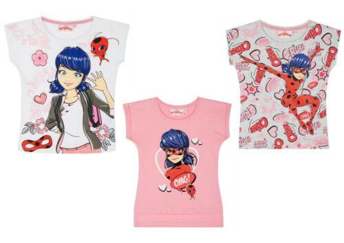 Girls Kids Children Miraculous Short Sleeve T-shirt Tee Tshirt Top Age 3-10 yrs