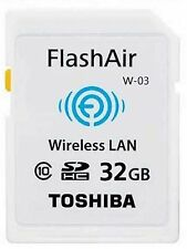 TOSHIBA SDHC FLASHAIR WIFI Class 10 32GB 32G 32 G GB SD HC WIRELESS MEMORY CARD