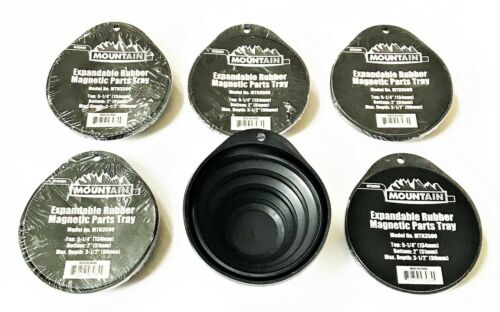 6 MOUNTAIN TOOLS EXPANDABLE RUBBER MAGNETIC PARTS TRAYS COLLAPSIBLE TRAY MTN3500