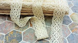1m-Vintage-style-Cotton-crochet-lace-trim-CREAM-Ribbon-Sewing-Crafts-quilting