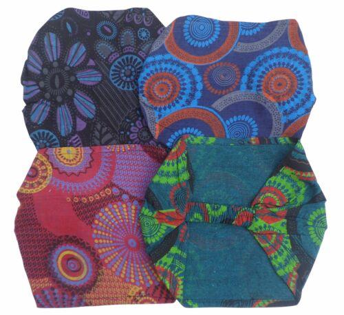 Fair Trade Baumwolle Haare Kopftuch Bänder Stirnband Accesories 4er Packung