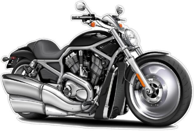 Harley Davidson V-Rod Muscle Bike Removable Wall Graphic Decal Turbo Fire Decor