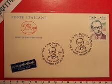 Busta F.D.C. 9.11.2005 Roma CELEBRAZIONI 50°ANNIVERSARIO MORTE ALCIDE DE GASPERI