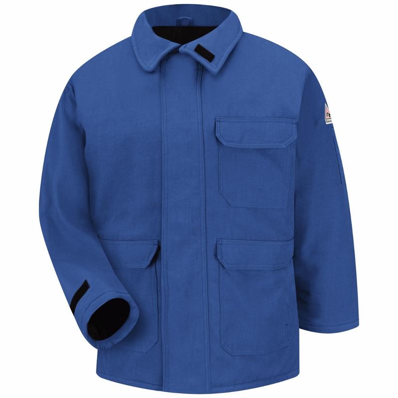 JNP2RB Bulwark NOMEX® IIIA Royal Blau Deluxe Parka, Größe small and Large