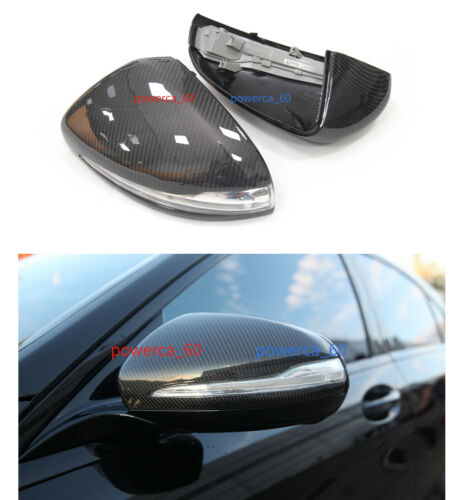 For Mercedes W205 W222 W213 C63 S63 E63 AMG Carbon Fiber Side Mirror Cover LHD
