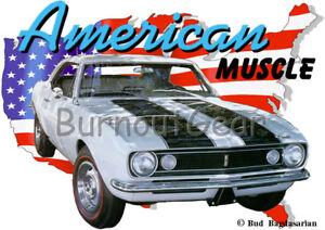 67 Camaro Un personnalisé shirt blanche T Car 1967 shirt Hot Muscle Chevrolet Rod USA t m8nwvON0