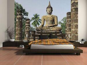 Photo-Wallpaper-TROPICAL-JUNGLE-Wall-Mural-366x254cm-Sukhothai-Wat-Sra-Si-Temple
