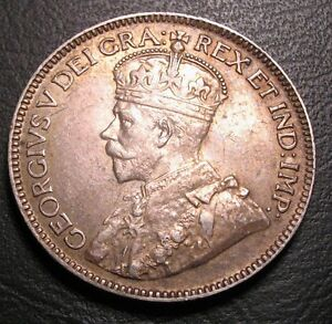 OLD-CANADIAN-COINS-RARE-1929-CANADA-TWENTY-FIVE-CENTS-FREE-SHIPPING-US-AND-CA