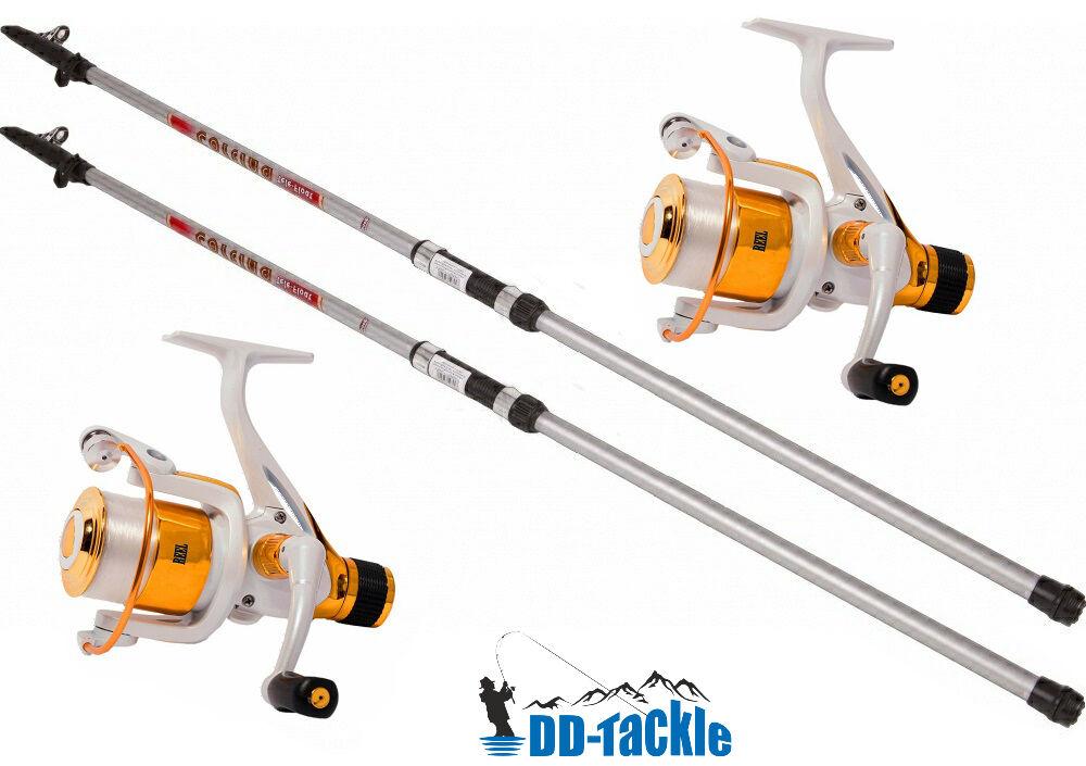 2er pescar truchas truchas truchas Allround set 2 cañas 3,00m +2 heckbremsrollen carpas vara 42cdad