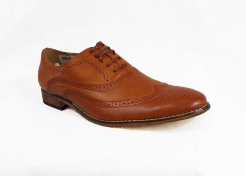Men/'s Brown Brogue Shoes Wedding Formal Smart Casual