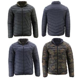 FIL-Men-039-s-Reversible-Camo-Puffer-Jacket-Windproof-Zip-Pockets-Puffy-Winter-Coat