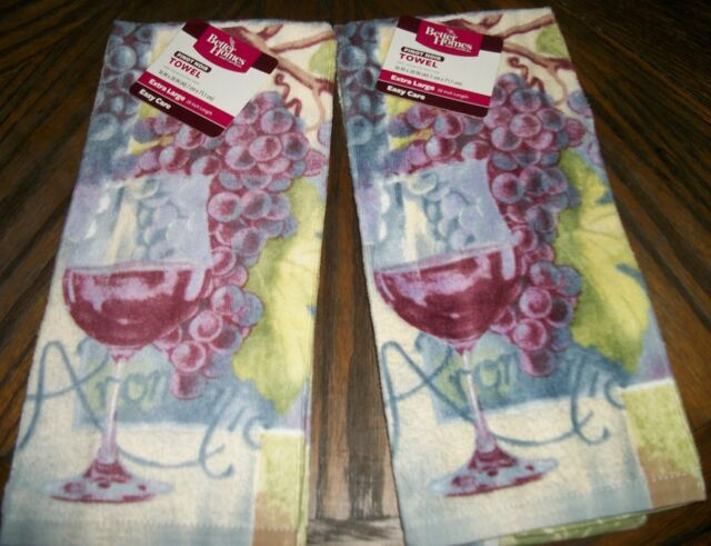Pinot Noir Grapes Wine kitchen dish towels Set of 2