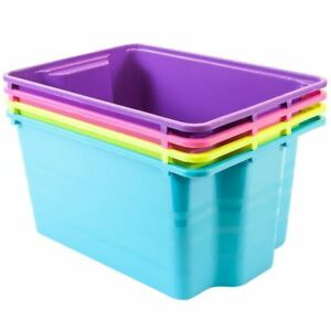 Image is loading Colourful-Bright-Toy-Boxes-Stack-N-Store-Plastic-  sc 1 st  eBay & Colourful Bright Toy Boxes - Stack N Store Plastic Storage Boxes | eBay