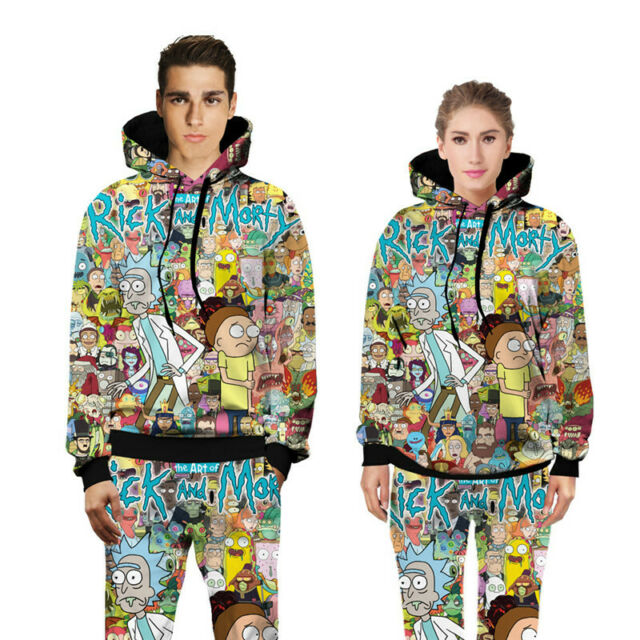 Rick and Morty 3d print Hoodies Men Activewear Casual Sweatshirt Hooded pullover