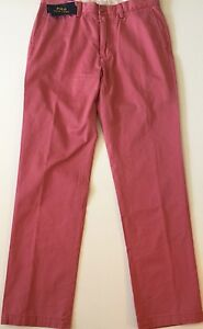 Polo Ralph Lauren Classic Fit Men Chino Pants Light Red Cotton Size 34Wx34L NWT