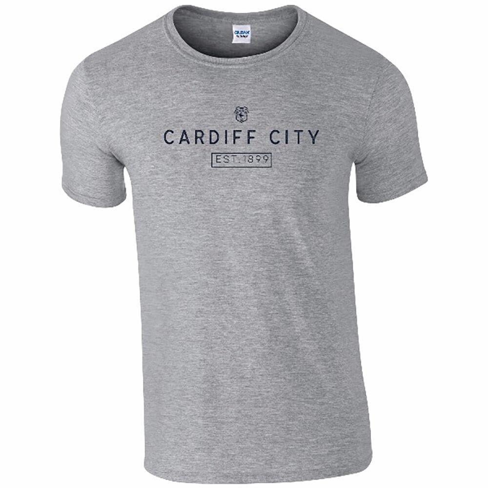 Cardiff City F.C - Personalised Mens T-Shirt (MINIMAL)