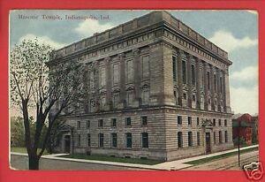 INDIANAPOLIS-INDIANA-MASONIC-TEMPLE-MAJESTIC-PUBL-TROY-OH-DOLL-1909-POSTCARD