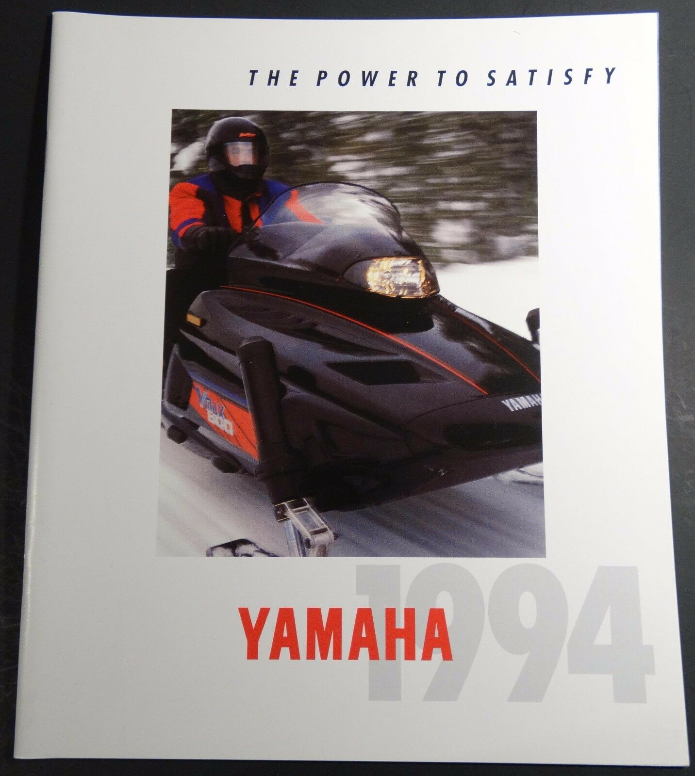 1994 YAMAHA SNOWMOBILE SALES BROCHURE LARGE 36 PAGES NICE     (468)