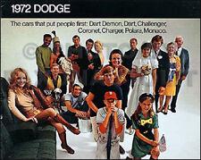 1972 Dodge Sales Catalog 72 Charger Coronet Challenger Rallye Dart Polara Demon Fits 1972 Charger