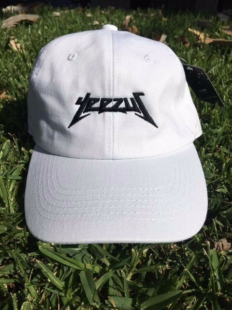 d7c7aacb85f10 Yeezus Hat Glastonbury Unstructured Strap back Dad Cap 350 750 Yeezy Kanye  White