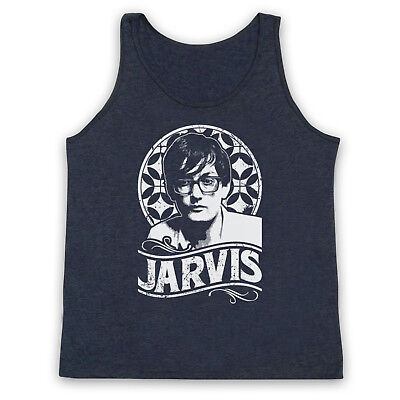 Pulp Jarvis Cocker Tribute Unofficial Britpop Band Adults Vest Tank Top Factories And Mines