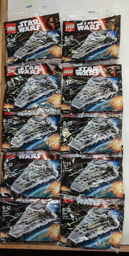 LEGO STAR WARS FIRST ORDER STAR DESTROYER 30277 POLYBAG (Pack of 10)