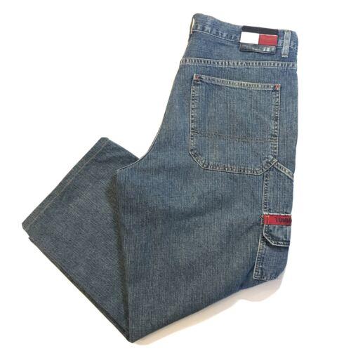 Vintage Tommy Hillfiger Mens Jeans Logo Wide Leg 9
