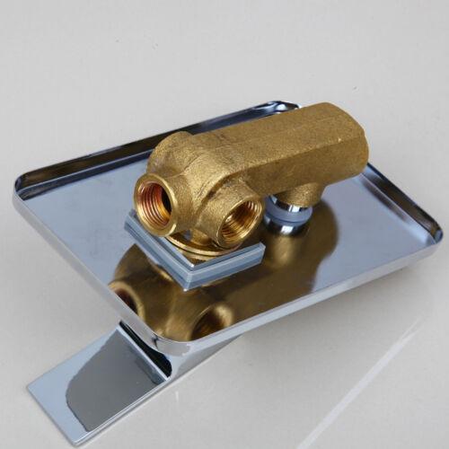 """Bathroom Shower 8/"""" Rain Shower Head+Square Value Hand sprayer Chrome  Faucet Set"""