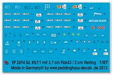 Peddinghaus 2694 1/87 Sd. Kfz 7-1 8 tonnellata Trattore corazzato e non