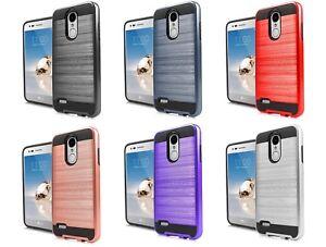 uk availability fcaeb 1e8b7 Details about For LG Rebel 4 LML212VL / LML211BL Slim Metallic Hybrid Case  Phone Cover