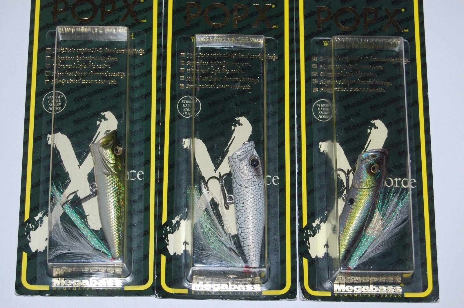 3 lures megabass pop x popx made in japan bass topwater popper 14oz assortment